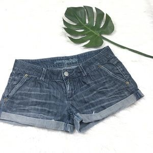 AMERICAN EAGLE OUTFITTERS JEAN SHORT BLUE/BLACK 4